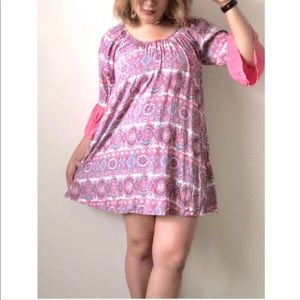 Altar'd State Pink Paisley Boho Tunic Dress